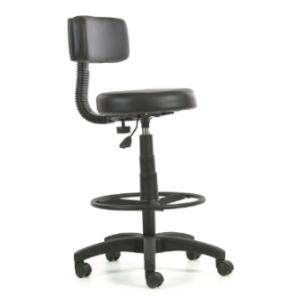 Piso cajero con asiento y respaldo tapizado (SBQCJ-01)